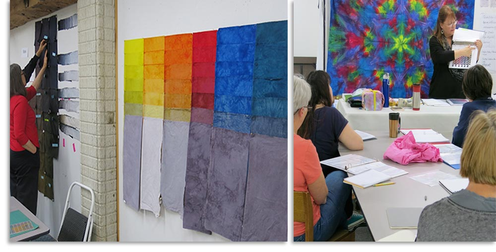 Carol Soderlund fabric dyeing workshops